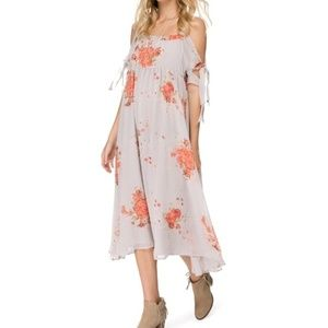 FREE PEOPLE TIED TO YOU FLORAL MIDI DRESS